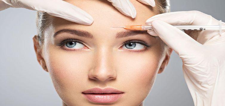 Tiêm botox cho vùng trán giúp lấy lại làn da căng mịn, giữ nét thanh xuân